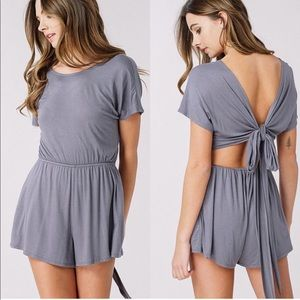 boutique Other - 🎉NEW ARRIVAL🎉 Open Back Tie Romper